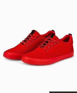 Vyriski raudoni laisvalaikio batai vyrams sportbačiai internetu pigiau T303R pora