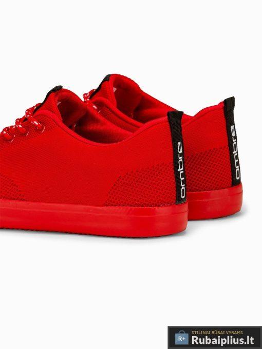 Vyriski sportbačiai raudoni laisvalaikio batai vyrams internetu pigiau T303R pora kulnas