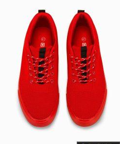 Vyriski sportbačiai raudoni laisvalaikio batai vyrams internetu pigiau T303R viršus