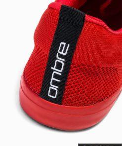Vyriski sportbačiai raudoni laisvalaikio batai vyrams internetu pigiau T303R kulnas