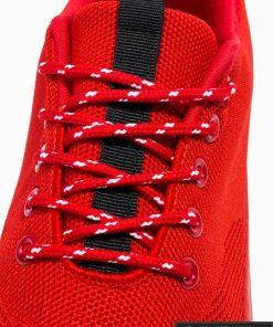 Vyriski sportbačiai raudoni laisvalaikio batai vyrams internetu pigiau T303R raišteliai