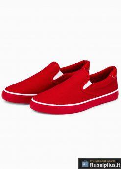 Stilingi vyriski raudoni laisvalaikio batai vyrams internetu pigiau T301R pora