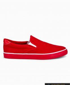 Stilingi vyriski raudoni laisvalaikio batai vyrams internetu pigiau T301R vienas