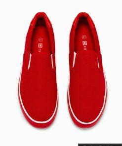 Stilingi vyriski raudoni laisvalaikio batai vyrams internetu pigiau T301R iš viršaus