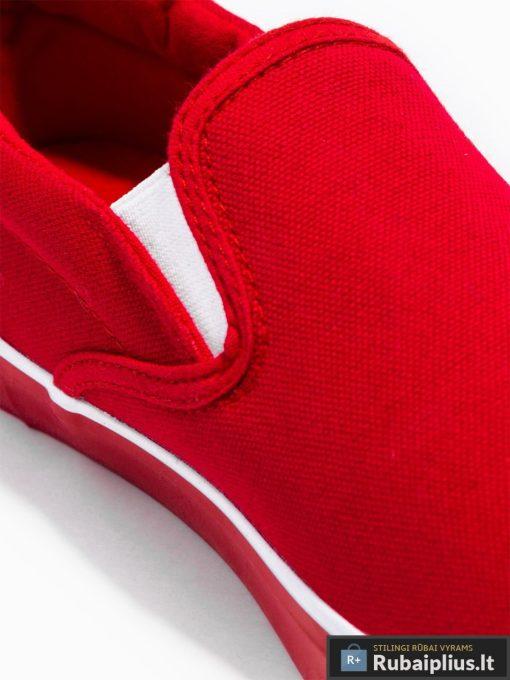 Stilingi vyriski raudoni laisvalaikio batai vyrams internetu pigiau T301R viršus