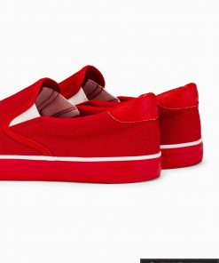 Stilingi vyriski raudoni laisvalaikio batai vyrams internetu pigiau T301R iš galo