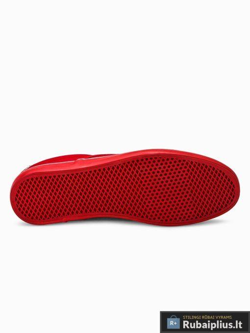 Stilingi vyriski raudoni laisvalaikio batai vyrams internetu pigiau T301R padas