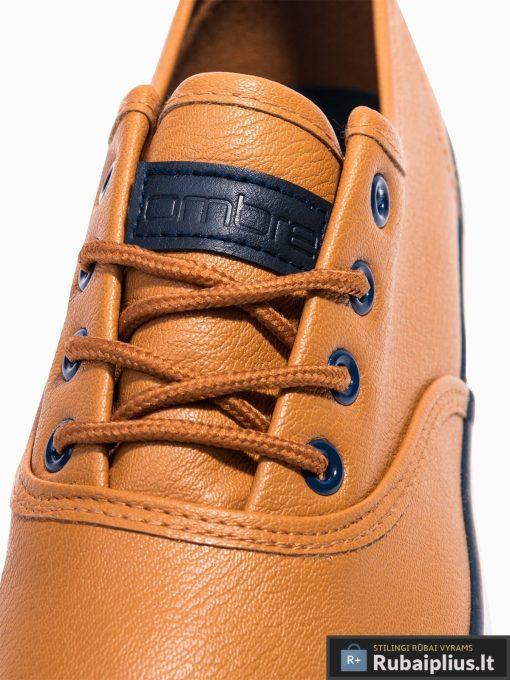 Stilingi vyriski rudi laisvalaikio batai vyrams internetu pigiau T305RUD raišteliai