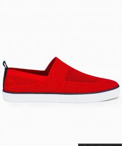 Slip on vyriski raudoni laisvalaikio batai vyrams su tinkleliu internetu pigiau T308R vienas
