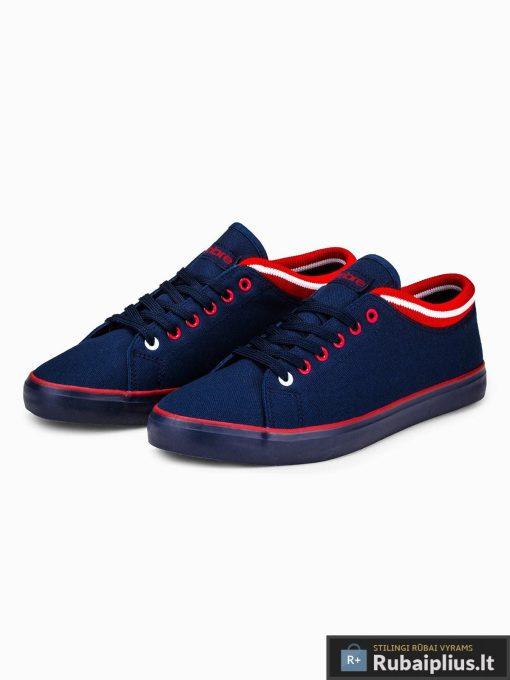 Stilingi vyriski slipon tamsiai mėlyni laisvalaikio batai vyrams internetu pigiau T302TM pora