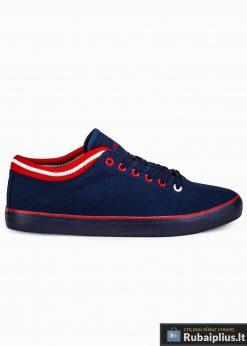 Stilingi vyriski slipon tamsiai mėlyni laisvalaikio batai vyrams internetu pigiau T302TM vienas