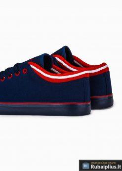 Stilingi vyriski slipon tamsiai mėlyni laisvalaikio batai vyrams internetu pigiau T302TM iš galo