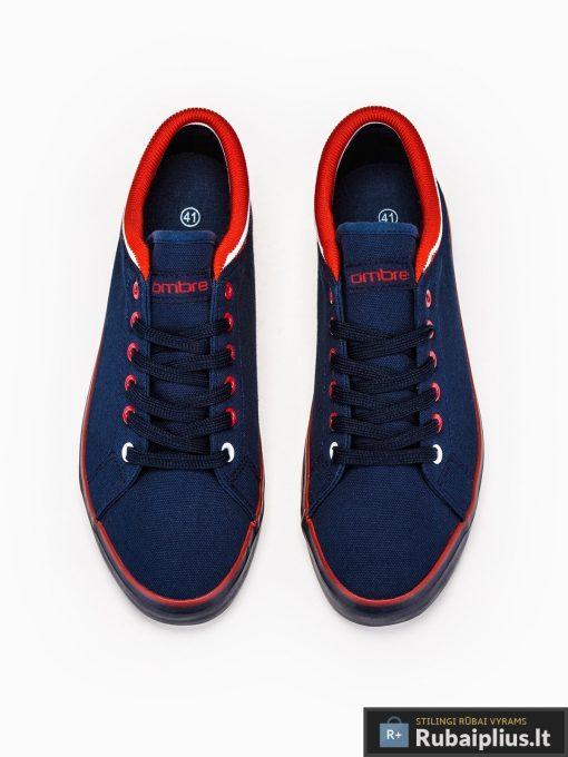Stilingi vyriski slipon tamsiai mėlyni laisvalaikio batai vyrams internetu pigiau T302TM viršus
