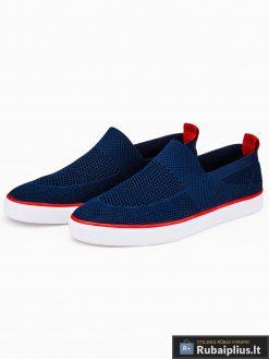 Slip on vyriski tamsiai mėlyni laisvalaikio batai vyrams su tinkleliu internetu pigiau T308TM pora