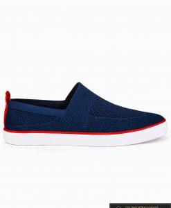 Slip on vyriski tamsiai mėlyni laisvalaikio batai vyrams su tinkleliu internetu pigiau T308TM vienas