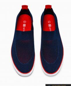 Slip on vyriski tamsiai mėlyni laisvalaikio batai vyrams su tinkleliu internetu pigiau T308TM viršus