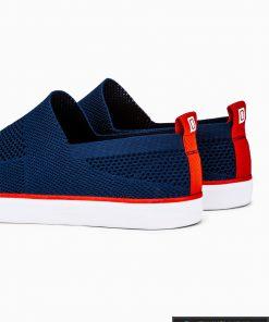 Slip on vyriski tamsiai mėlyni laisvalaikio batai vyrams su tinkleliu internetu pigiau T308TM iš galo