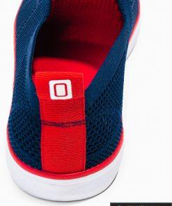 Slip on vyriski tamsiai mėlyni laisvalaikio batai vyrams su tinkleliu internetu pigiau T308TM kulnas