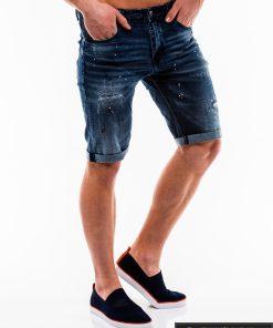 Vyriski tamsiai mėlyni džinsiniai šortai vyrams internetu pigiau W125 dešinė