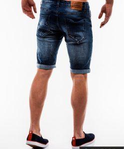 Vyriski tamsiai mėlyni džinsiniai šortai vyrams internetu pigiau W125 nugara