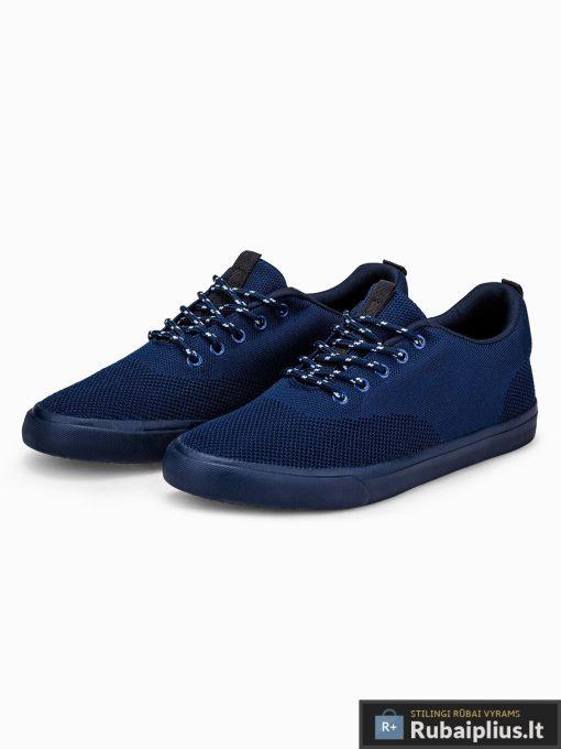 Stilingi vyriski tamsiai mėlyni laisvalaikio batai vyrams internetu pigiau T303TM pora