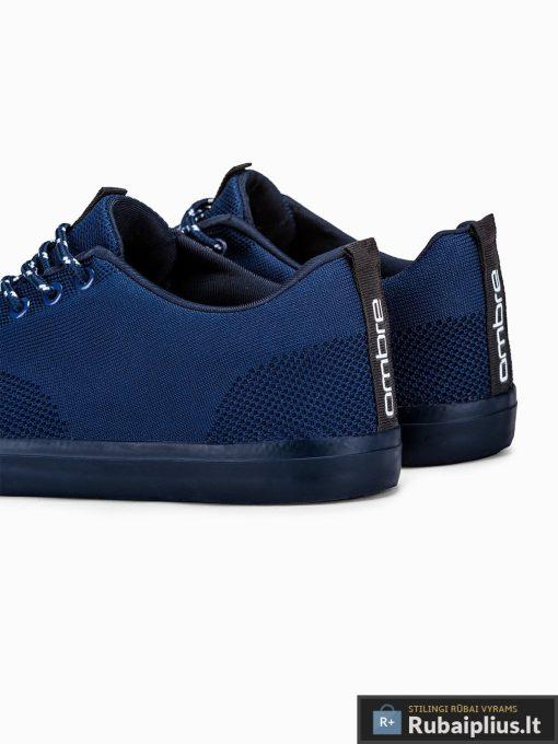 Stilingi vyriski tamsiai mėlyni laisvalaikio batai vyrams internetu pigiau T303TM iš galo