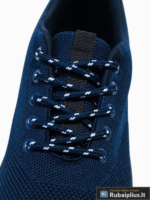 Stilingi vyriski tamsiai mėlyni laisvalaikio batai vyrams internetu pigiau T303TM raišteliai