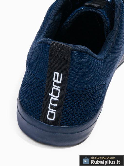 Stilingi vyriski tamsiai mėlyni laisvalaikio batai vyrams internetu pigiau T303TM kulnas