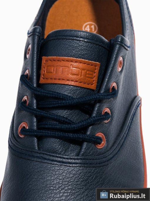 Vyriski tamsiai mėlyni laisvalaikio batai vyrams internetu pigiau T305TM raišteliai