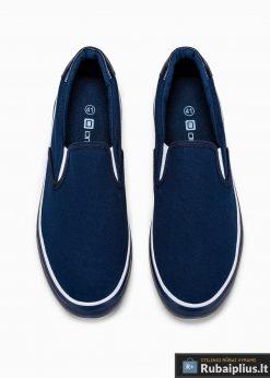 Tamsiai mėlyni laisvalaikio batai vyrams vyriski sportbačiai internetu pigiau T301TM viršus