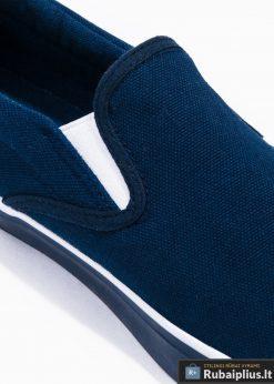 Tamsiai mėlyni laisvalaikio batai vyrams vyriski sportbačiai internetu pigiau T301TM šonas