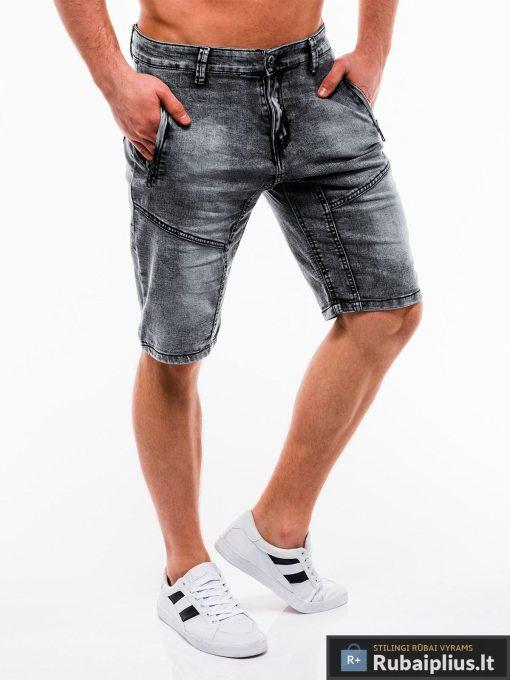 Vyriski juodi džinsiniai šortai vyrams internetu pigiau W129J dešinė