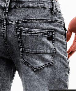 Vyriski juodi džinsiniai šortai vyrams internetu pigiau W129J kišenė
