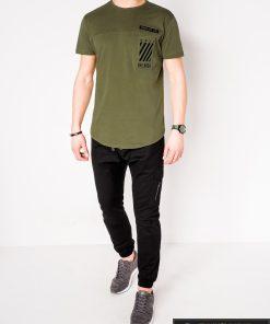 Vyriski chaki marškinėliai vyrams su užrašais internetu pigiau S969CH žmogus