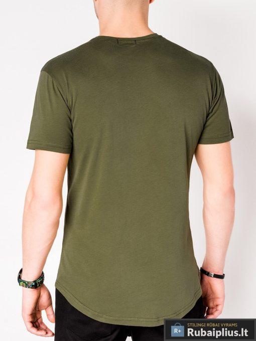 Vyriski chaki marškinėliai vyrams su užrašais internetu pigiau S969CH nugara