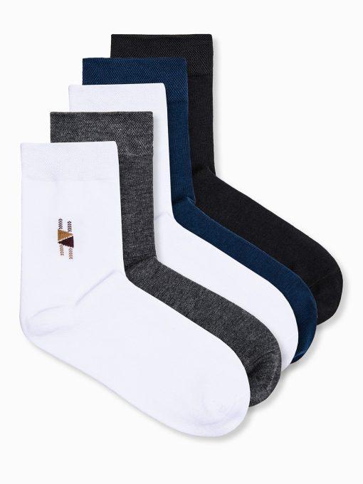 Įvairių spalvų kojinės vyrams vnt. pakuotė pilka, mėlyna,juoda, balta