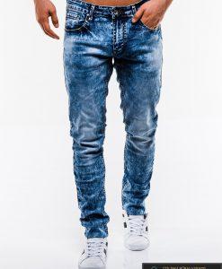 Madingi vyriski mėlyni džinsai vyrams internetu pigiau P829 priekis