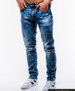 Madingi vyriski mėlyni džinsai vyrams internetu pigiau P829 kairė