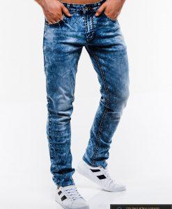 Madingi vyriski mėlyni džinsai vyrams internetu pigiau P829 dešinė
