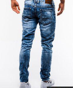 Madingi vyriski mėlyni džinsai vyrams internetu pigiau P829 nugara