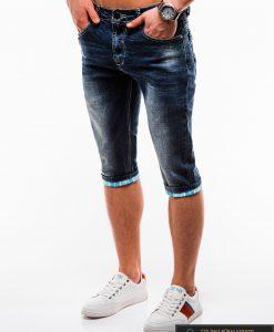 Vyriski mėlyni džinsiniai šortai vyrams internetu pigiau W122M kairė