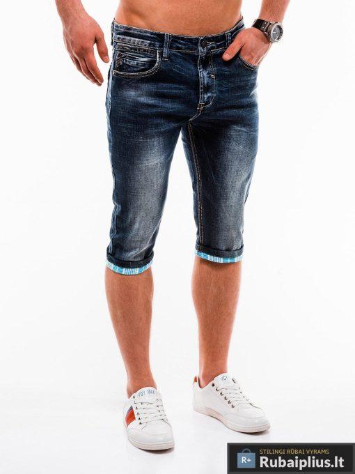 Vyriski mėlyni džinsiniai šortai vyrams internetu pigiau W122M dešinė