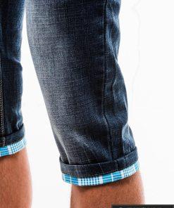 Vyriski mėlyni džinsiniai šortai vyrams internetu pigiau W122M koja