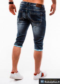 Vyriski mėlyni džinsiniai šortai vyrams internetu pigiau W122M nugara