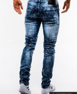 Madingi vyriski mėlyni plėšyti džinsai vyrams internetu pigiau P828 nugara