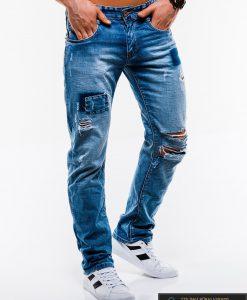 Vyriski mėlyni plėšyti džinsai vyrams internetu pigiau P827 dešinė
