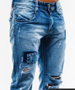 Vyriski mėlyni plėšyti džinsai vyrams internetu pigiau P827 kišenė