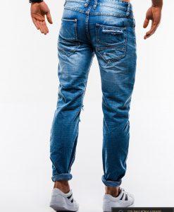Vyriski mėlyni plėšyti džinsai vyrams internetu pigiau P827 nugara