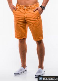 Vyriski oranžiniai chino šortai vyrams internetu pigiau W195O kairė