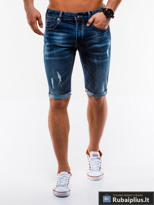 Vyriski plėšyti džinsiniai šortai vyrams internetu pigiau W167TM priekis